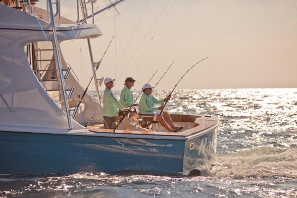 boat fishing in water